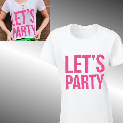 LET/'S PARTY JERIKA ERIKA COSTELL T-SHIRT LADIES FIT GIRLS Dance Music Jake Paul