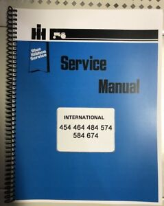 Details about 574 International Harvester Tractor Technical Service on