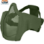 Viper Gen2 Mesh Crossteel Face Mask with Padded Sides Airsoft Skermish Green