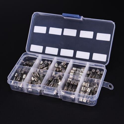 100X5x20mm Schnellblasgla Sortierte Sicherung Ampere0.2A0.5A1A2A3A5A8A10A15A20A^