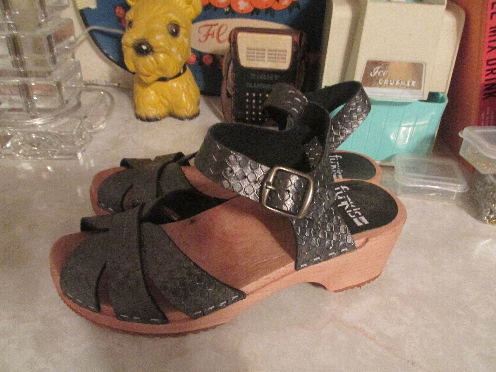 Funkis  peep toe weave clogs size 36 NWOB
