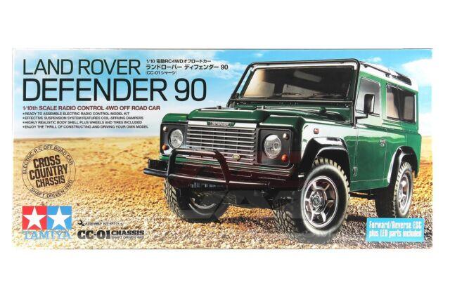 Tamiya 58657 1/10 RC 4WD Car CC01 Chassis Land Rover Defender 90 Kit w/ESC (AZP)