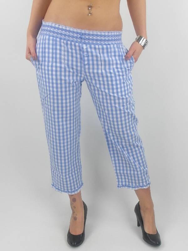Bambola Pantalon En Tissu 5030447 Blau Blanc Sacs à Carreaux