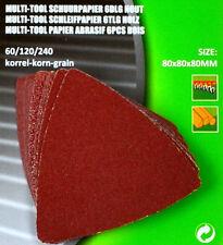 Schleifpapier Schleifscheiben Delta  Dreieckschleifpapier-80mm  f. Multitool H