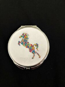 Personalized-Expression-Colorful-Polka-Dotted-Horse-Compact-Mirror