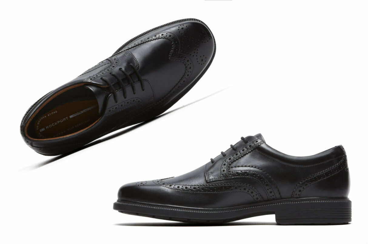 Men's Rockport DresSports Luxe Wingtip Oxford Black M76873
