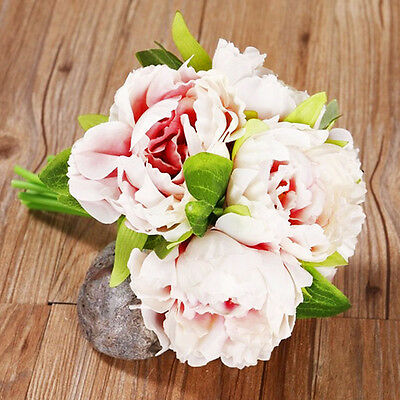 1 Bouquet 5 Heads Artifical Peony Silk Flower Hydrangea Wedding Party Decors