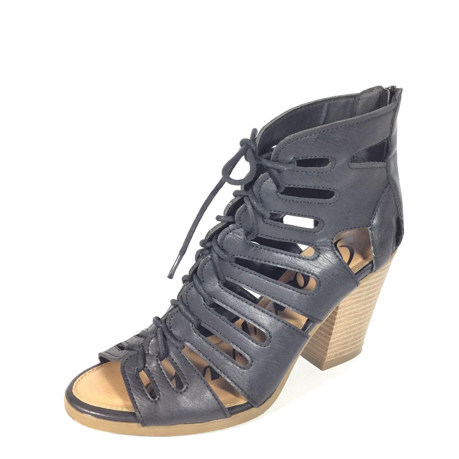 Rampage Venyce Women's Women's Women's Size 8.5 M Black Heel Lace Up Open Toe shoes. a93aba