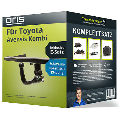 Anhängerkupplung ORIS abnehmbar TOYOTA Avensis Kombi EBA Elektrosatz NEU inkl