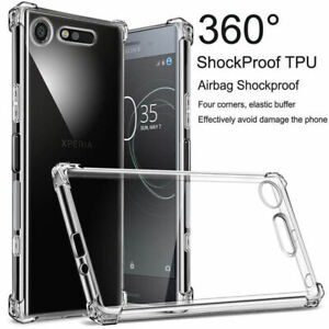 For-Sony-Xperia-10-Plus-XZ3-XZ2-XZ1-XA2-Compact-Clear-Shockproof-TPU-Cover-Case