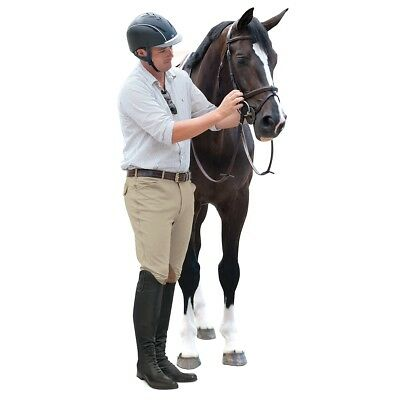 Ovation Mens 4-Pocket EuroWeave Dry-Tex Knee Patch Riding Breeches