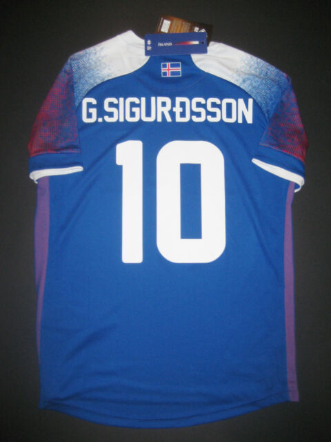 539abda3c 2018-2019 World Cup Errea Iceland Gylfi Sigurdsson Authentic Jersey Shirt  Kit