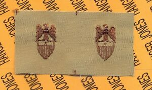 Branch Insignia DESERT DCU sew on patch set US Army U.S