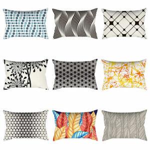 Am-30x50cm-Abstract-Geometric-Pillowcase-Waist-Cushion-Cover-Home-Bed-Decor-Mys