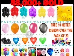 5-100-LARGE-PLAIN-BALONS-BALLONS-helium-BALLOONS-Quality-Birthday-Wedding-BALOON