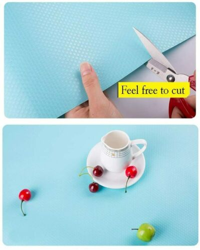 Cupboard Cabinet Shelf Drawer Liner Non-slip Table Cover Mat Kitchen Home Blue