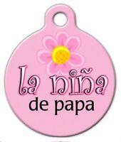La Nina De Papa - Custom Personalized Pet Id Tag For Dog And Cat Collars