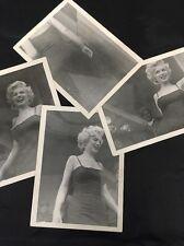 4 Original 3x4 Photos Marilyn Monroe at 6167th Air Base Korea Feburary 1954 *NR