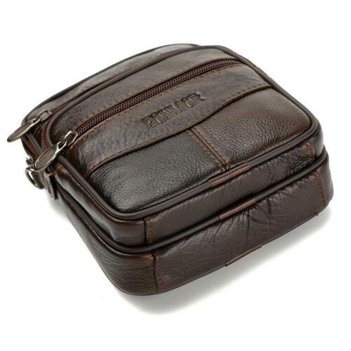 Men/'s Leather Crossbody Messenger Shoulder Bags Satchel Small Handbag Tablet Bag