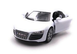 Audi-maqueta-de-coche-con-matricula-de-deseos-r8-auto-deportivo-blanco-escala-1-34-39