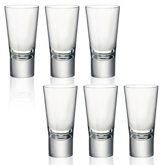 12 or 24 Bormioli Rocco 70ml Double Shot Glasses Vodka Whiskey Shooter Cups 6