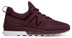 New Balance Men's 574 Sport shoes Burgundy Fashion and Casual shoes Wear