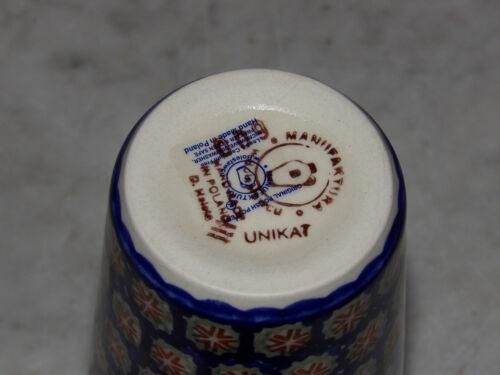 Polish Pottery 12 oz. Tumbler! UNIKAT Signature Lucy Pattern!