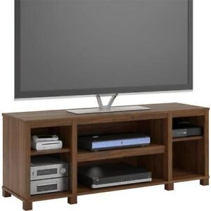 Parson-Cubby-TV-Stand-for-TVs-up-to-50-Entertainment-Center-TV-Stand-Walnut