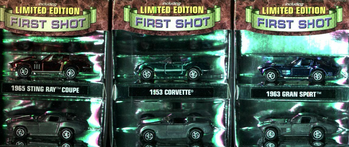 Premiers coups CORVETTE collection rare set complet JOHNNY LIGHTNING USA IMPORT