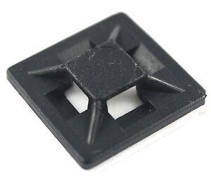 9742c386d5bd SELF ADHESIVE CABLE TIE BASE MOUNTS LOW PROFILE BLACK ZIP TIE STICKY ...