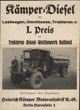 Werbung: BERLIN-MARIENFELDE, um 1933, Kämper-Diesel für Lastwagen, Busse