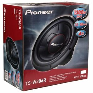 NEW-Pioneer-Champion-Series-TS-W306R-1300-Watts-12-034-4-Ohm-Car-Audio-Subwoofer