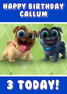 Puppy Dog Pals Personalised Birthday Card Add Your Own Name Age Ebay