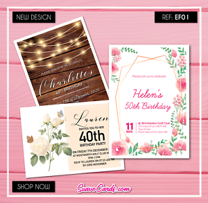 Image Is Loading Rustic Personalised Invitations Party Invites 18th 21st 30th