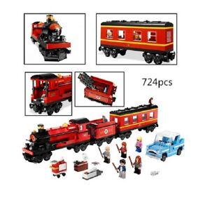 Treno hogwarts express harry potter con 5 personaggi macchina volante weasley