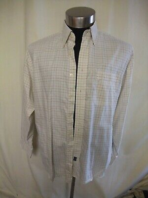 Mens Shirt Austin Reed Xl Collar 17 44cm Ivory Check Pure Cotton Casual 7077 Ebay