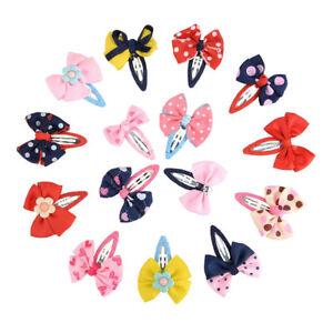 15pcs-Kids-Baby-Girls-Bowknot-Hair-Clip-Hairpin-Barrettes-Hair-Snaps-Accessories