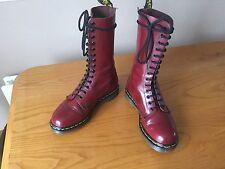 Vintage Dr Martens 1914 cherry red boots UK 8 EU 42 punk skin goth England