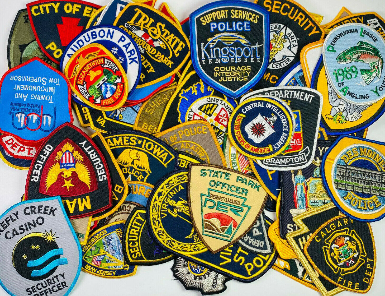 Image 1 - 80 Police Sheriff Fire EMS Security Patches Huge Collection Delaer Lot (C)