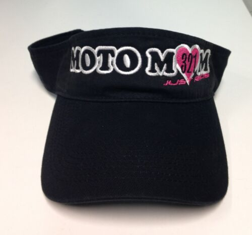 MOTO MOM VISOR LADIES WOMEN MOTOCROSS MX JUST RIDE RACE NUMBER HAT CAP