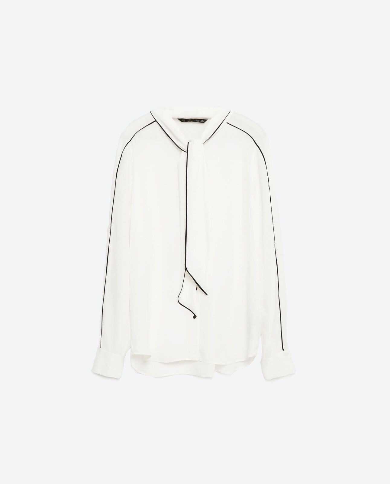 Zara Tie-Up Blouse Top Größe M NWT