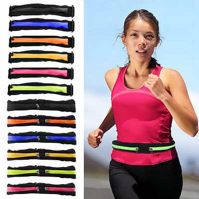 Sport Runner Zipper Fanny Pack Belly Waist Bag Fitness Running Belt Pouch LOT