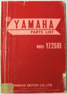 YAMAHA-YZ250E-1978-Illustrated-Motorcycle-Spare-Parts-List-2K7-28198-G5