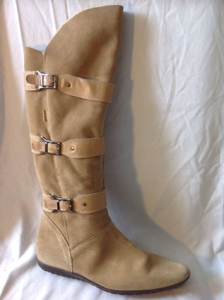 Mexx Brown Knee High Suede Boots Size 4