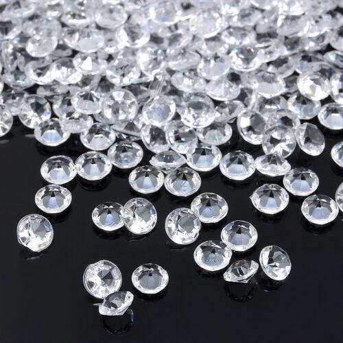 1000pcs 3-8mm Wedding Decoration Scatter Table Crystals Diamond Acrylic Confetti