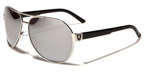 Impresionante calidad alta piloto Hombre Mujer Metal Gafas De Sol Khan 100/% UV400 1170