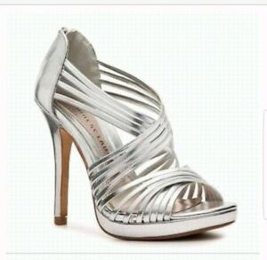 5b77165553a Image is loading Chinese-Laundry-Silver-Metallic-High-Heels-Size-6-