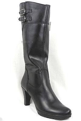 Tamaris Stiefel 42 LEDER Schwarz XS Perfekt Vario Schaft Heels Plateau Boots NEU | eBay