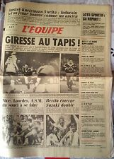 L'Equipe Journal 29/04/1985; Knetemann/ Vuelta; Indurain/ Giresse/ Guy Bertin