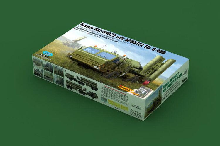 Hobbyboss 1 35 85517 Russian BAZ-64022 w 5P85TE2 TEL S-400